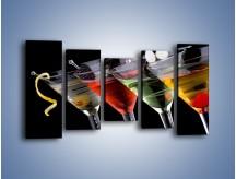 Obraz na płótnie – Alkoholowa zabawa do rana – pięcioczęściowy JN100W2