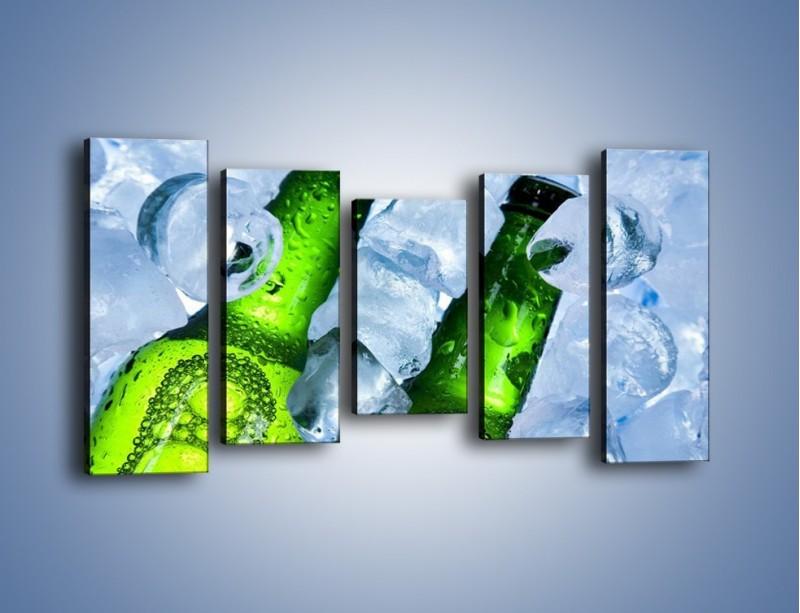 Obraz na płótnie – Czas na zimne piwko – pięcioczęściowy JN148W2