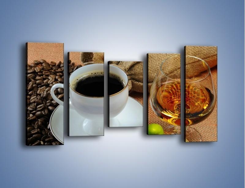 Obraz na płótnie – Wieczorowa kawa z prądem – pięcioczęściowy JN166W2