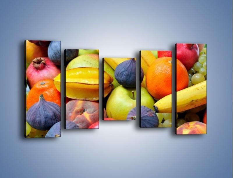 Obraz na płótnie – Owocowe kolorowe witaminki – pięcioczęściowy JN173W2