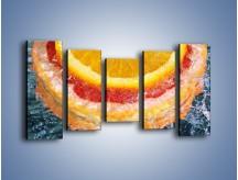 Obraz na płótnie – Cytrusowe trio – pięcioczęściowy JN177W2