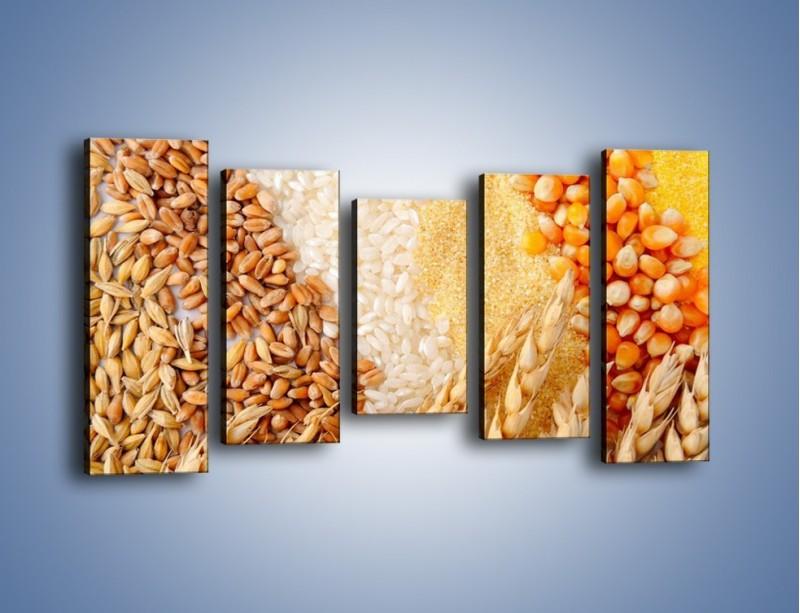 Obraz na płótnie – Ziarna pszenno-zbożowe – pięcioczęściowy JN207W2