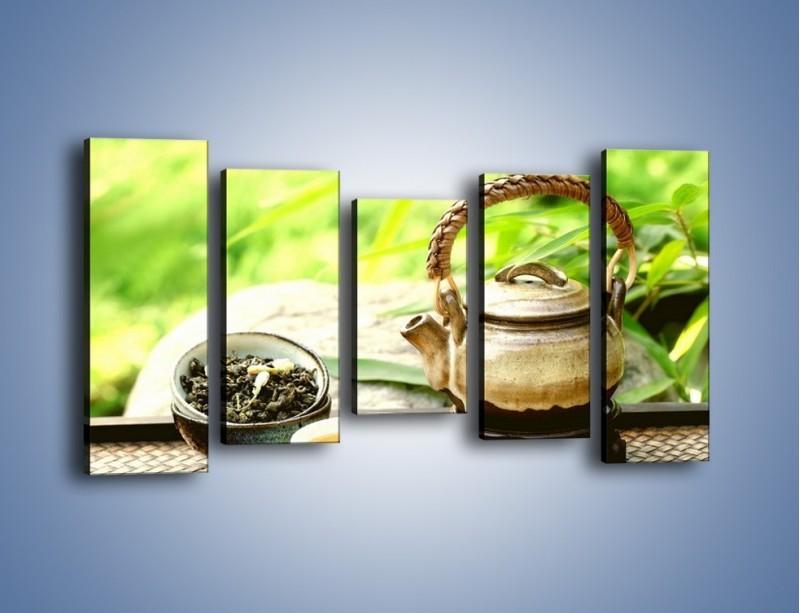 Obraz na płótnie – Herbata na świeżym powietrzu – pięcioczęściowy JN249W2