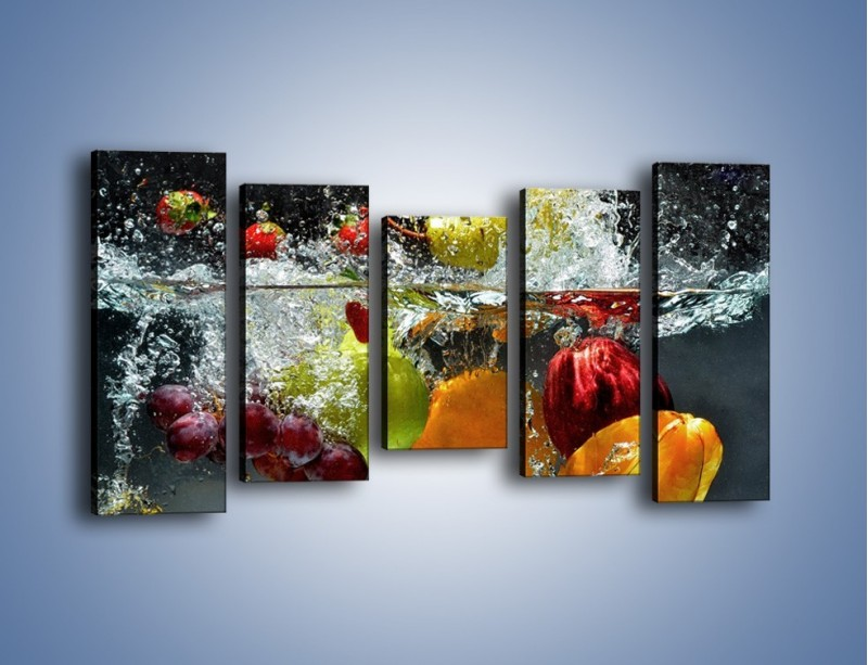 Obraz na płótnie – Głębokie owocowe zanurzenie – pięcioczęściowy JN253W2