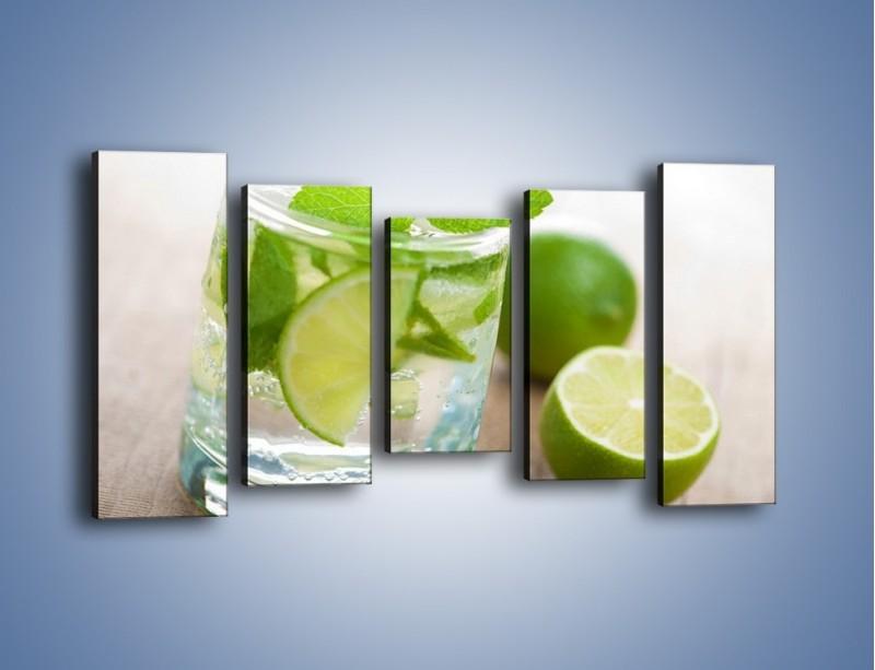 Obraz na płótnie – Limonkowy napój – pięcioczęściowy JN262W2