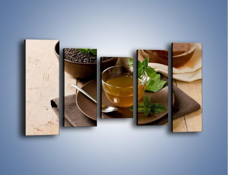 Obraz na płótnie – Filiżanka herbaty na poprawę humoru – pięcioczęściowy JN264W2