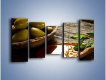 Obraz na płótnie – Bogactwa wydobyte z oliwek – pięcioczęściowy JN270W2