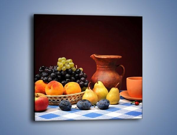 Obraz na płótnie – Stół pełen owocowych darów – jednoczęściowy kwadratowy JN691