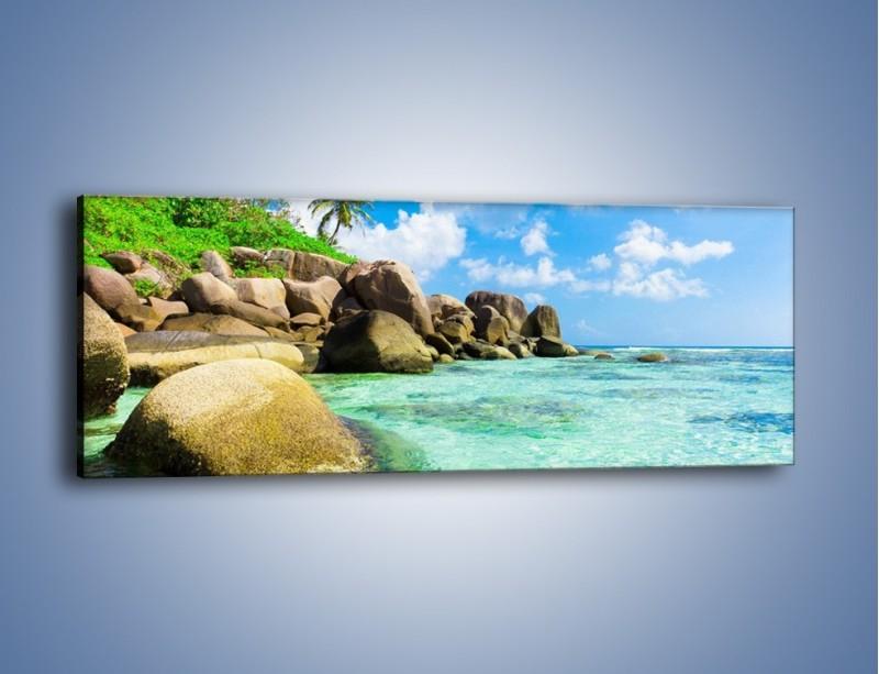Obraz na płótnie – Lazurowa woda w tropikach – jednoczęściowy panoramiczny KN035
