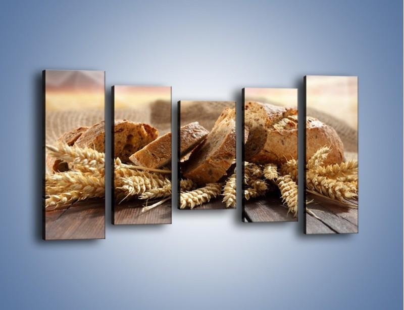Obraz na płótnie – Świeży pszenny chleb – pięcioczęściowy JN287W2