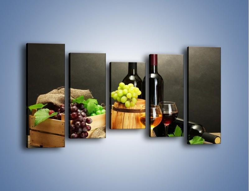 Obraz na płótnie – Wytrawne smaki wina – pięcioczęściowy JN289W2