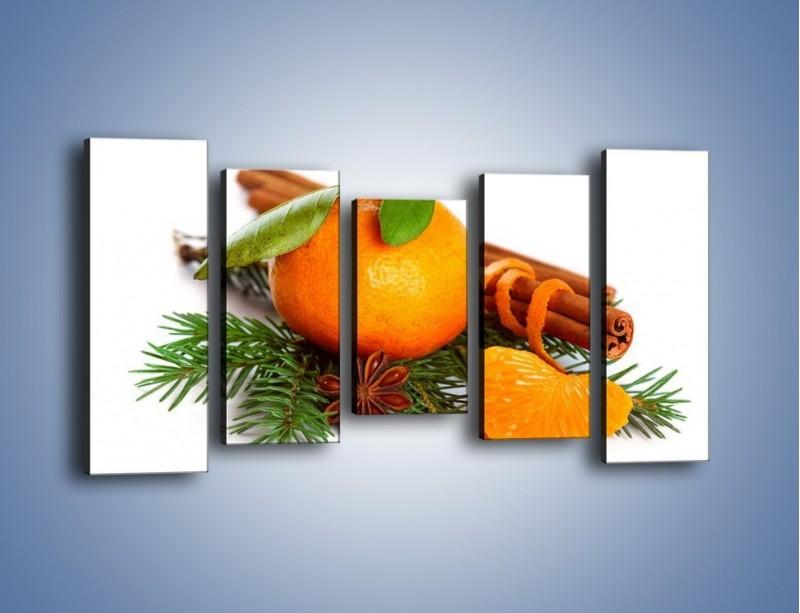 Obraz na płótnie – Pomarańcza na święta – pięcioczęściowy JN306W2