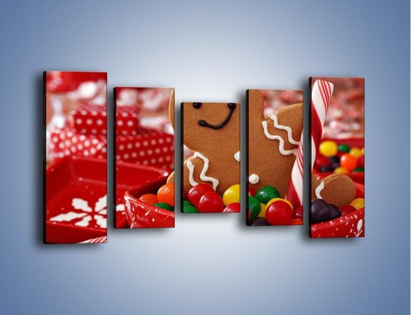 Obraz na płótnie – Ciasteczkowy ulubieniec dzieci – pięcioczęściowy JN308W2