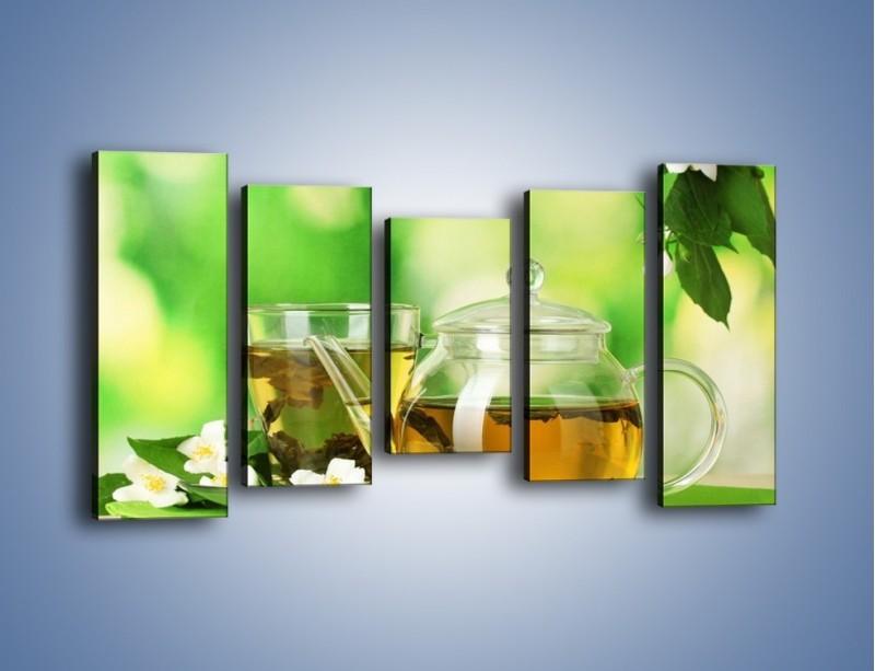 Obraz na płótnie – Herbaciane ukojenie – pięcioczęściowy JN316W2