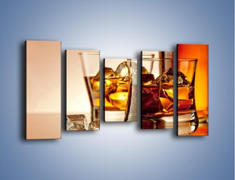 Obraz na płótnie – Męskie rozmowy przy whisky – pięcioczęściowy JN318W2