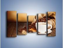 Obraz na płótnie – Zaproszenie na pogaduchy przy kawie – pięcioczęściowy JN320W2