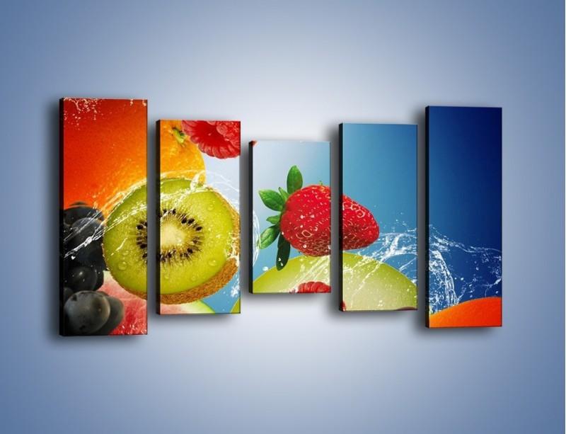 Obraz na płótnie – Owoce o poranku – pięcioczęściowy JN331W2