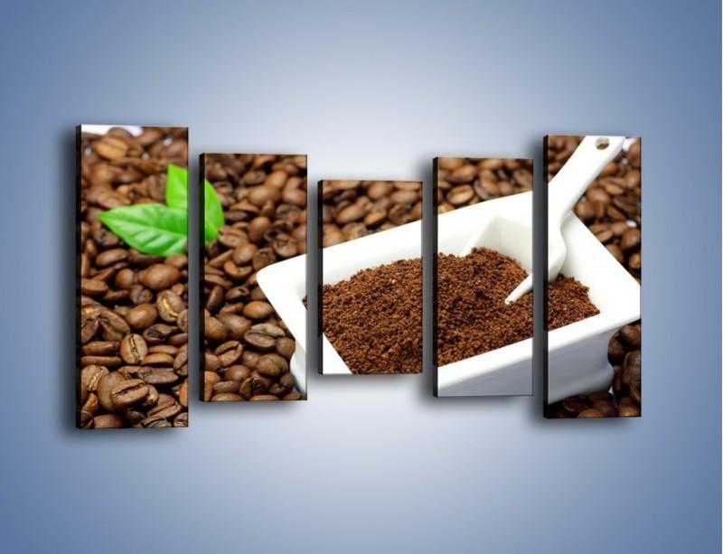 Obraz na płótnie – Zmielona kawa – pięcioczęściowy JN340W2