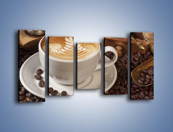 Obraz na płótnie – Czas na kawę – pięcioczęściowy JN353W2