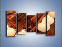 Obraz na płótnie – Cynamonowe szaleństwa przy świecach – pięcioczęściowy JN371W2
