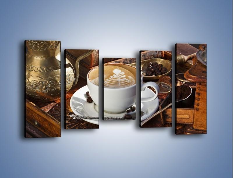 Obraz na płótnie – Wspomnienie przy kawie – pięcioczęściowy JN377W2