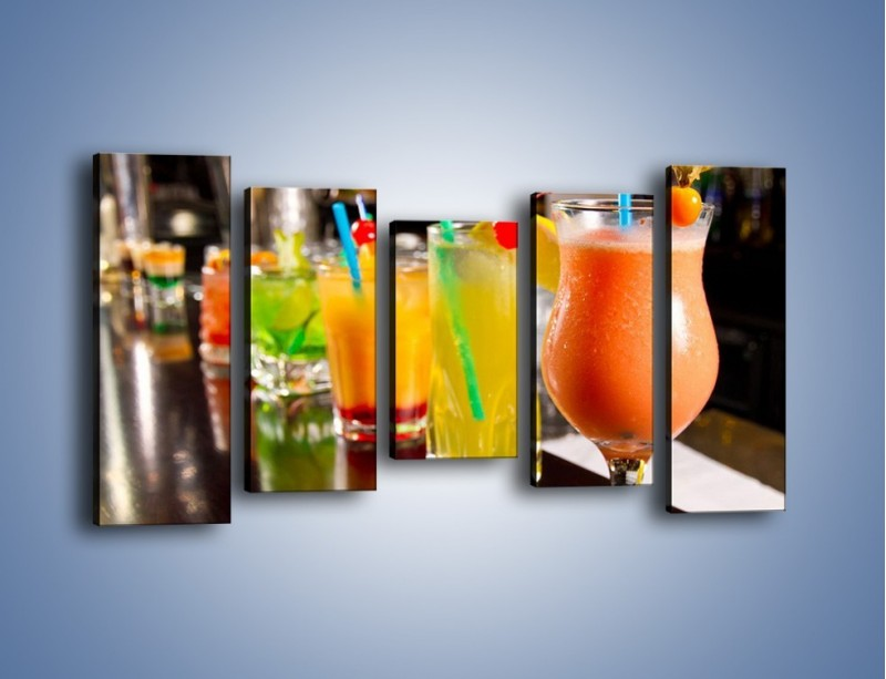 Obraz na płótnie – Barmańskie drinki – pięcioczęściowy JN433W2