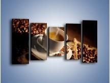 Obraz na płótnie – Historia dwóch ziarenek kawy – pięcioczęściowy JN479W2