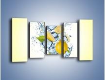 Obraz na płótnie – Cytrynowo-wirujące trio – pięcioczęściowy JN497W2