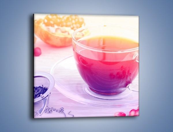 Obraz na płótnie – Herbata z dodatkiem granatu – jednoczęściowy kwadratowy JN697