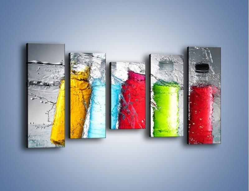Obraz na płótnie – Alkohol zatopiony w wodzie – pięcioczęściowy JN584W2