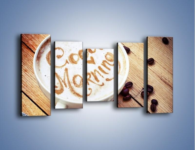Obraz na płótnie – Kawa z bezą – pięcioczęściowy JN605W2