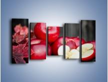 Obraz na płótnie – Czerwone jabłka późną jesienią – pięcioczęściowy JN619W2