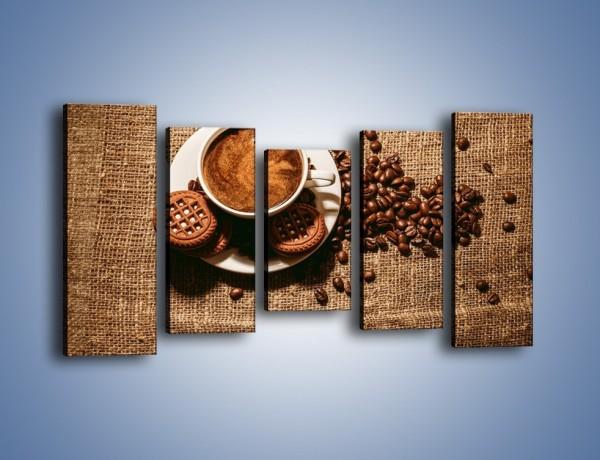 Obraz na płótnie – Kawowe słodkości na deser – pięcioczęściowy JN676W2