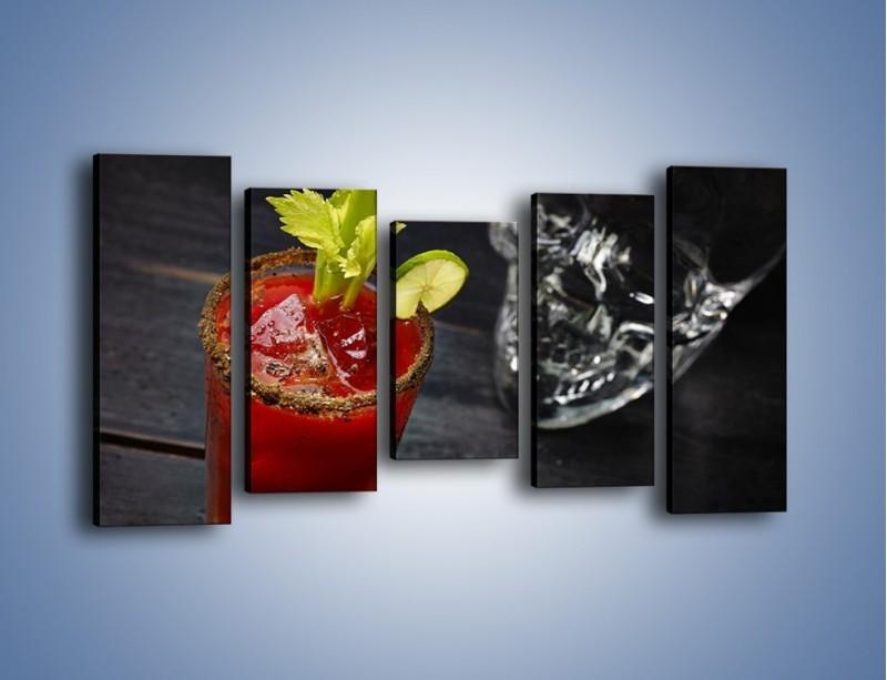 Obraz na płótnie – Czerwony drink z selerem – pięcioczęściowy JN751W2