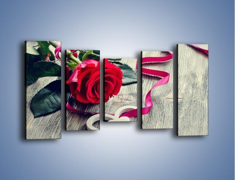 Obraz na płótnie – Od serca aż po różę – pięcioczęściowy K1013W2