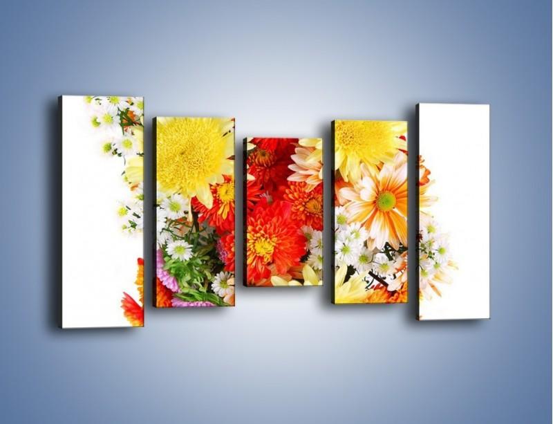 Obraz na płótnie – Bukiecik kwiatów z ogródka – pięcioczęściowy K118W2