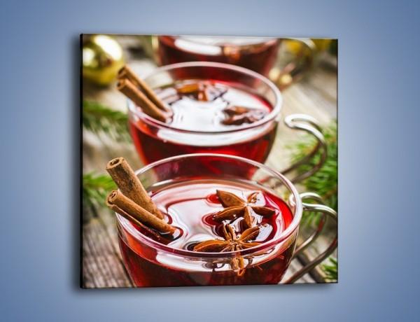 Obraz na płótnie – Grzane wino we troje – jednoczęściowy kwadratowy JN703