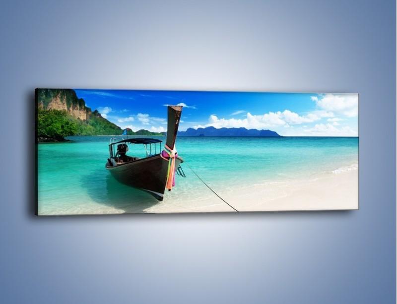 Obraz na płótnie – Wodny transport w tajlandii – jednoczęściowy panoramiczny KN083