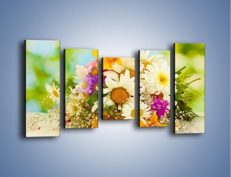 Obraz na płótnie – Bukiecik dla małej ogrodniczki – pięcioczęściowy K369W2