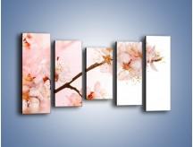 Obraz na płótnie – Blask kwiatów jabłoni – pięcioczęściowy K569W2