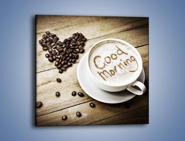 Obraz na płótnie – Z miłości do kawy – jednoczęściowy kwadratowy JN710