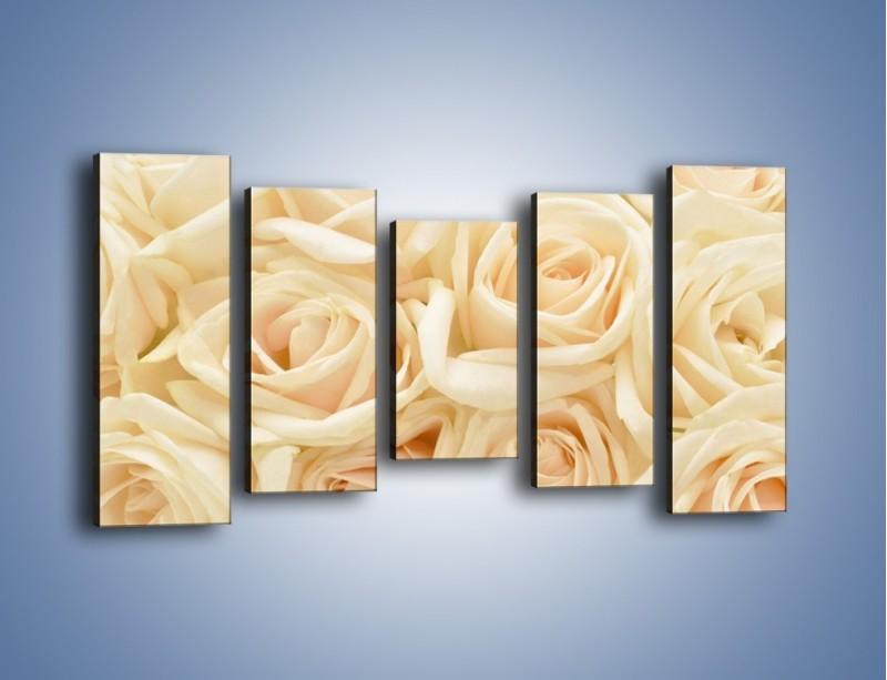 Obraz na płótnie – Bukiet herbacianych róż – pięcioczęściowy K710W2