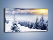 Obraz na płótnie – Choinki gotowe na święta – jednoczęściowy panoramiczny KN101