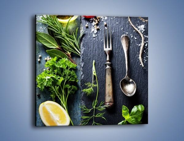 Obraz na płótnie – Najważniejsze zioła w kuchni – jednoczęściowy kwadratowy JN713