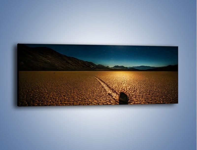 Obraz na płótnie – Kamienna mozaika na ziemi – jednoczęściowy panoramiczny KN1019