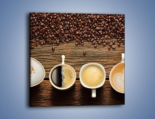 Obraz na płótnie – Kawa czarna czy biała – jednoczęściowy kwadratowy JN715
