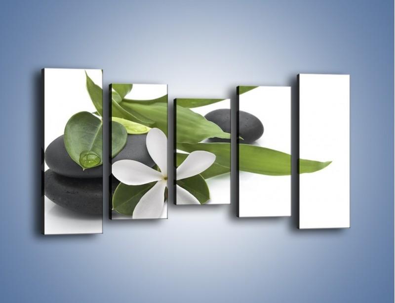Obraz na płótnie – Artystyczna kompozycja z kwiatem – pięcioczęściowy K968W2
