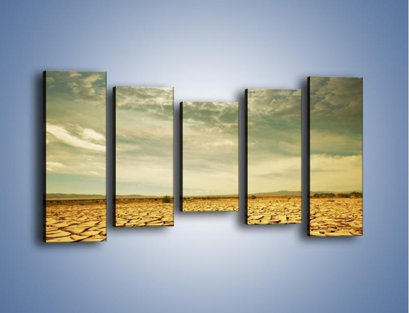 Obraz na płótnie – Ciemne chmury nad popękaną ziemią – pięcioczęściowy KN025W2