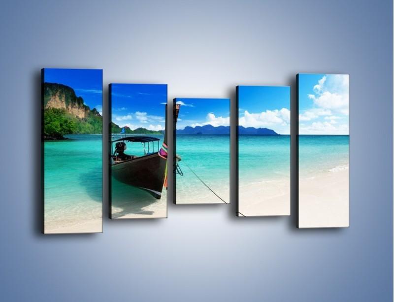 Obraz na płótnie – Wodny transport w tajlandii – pięcioczęściowy KN083W2