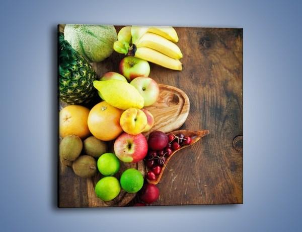 Obraz na płótnie – Owoce nie tylko egzotyczne – jednoczęściowy kwadratowy JN717